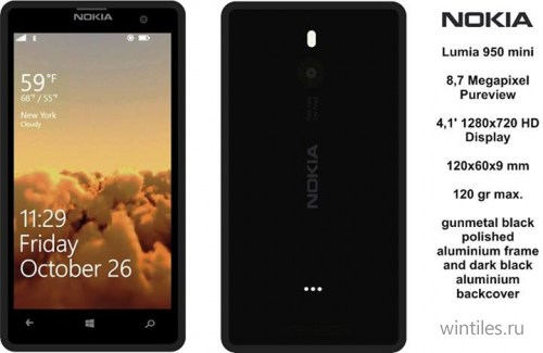Концепт Nokia Lumia 950 Mini